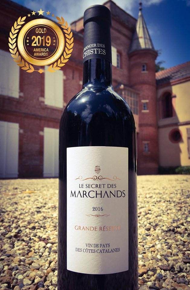 Le Secret des Marchands - IGP Côtes Catalanes - Grande Réserve - 2016 joined America Wine Awards 2019